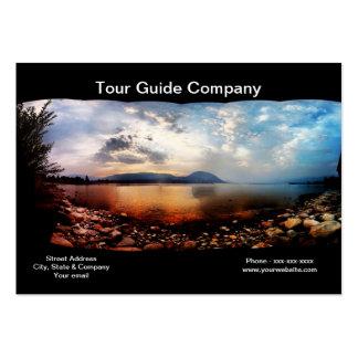 Carte de visite de compagnie de guide touristique