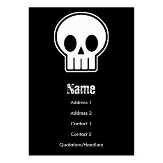 Carte de visite de crâne de vecteur