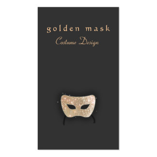 Carte de visite de divertissement - masque d'or