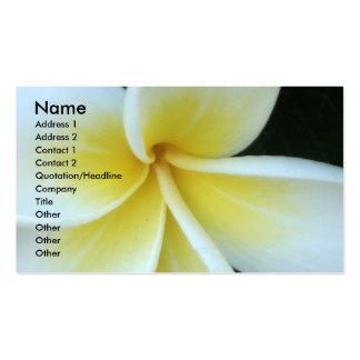 Carte de visite de fleur de Frangipani