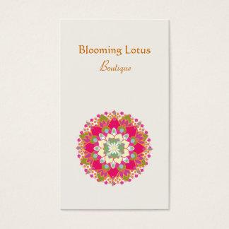 Carte de visite de floraison coloré de fleur de