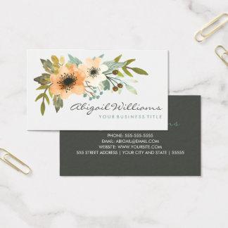 Carte de visite de floraison d'aquarelle