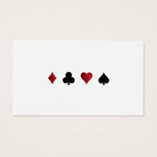 Carte de visite de jeu de casino