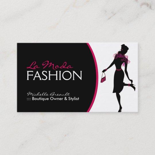 Carte De Visite Elegant Couturier