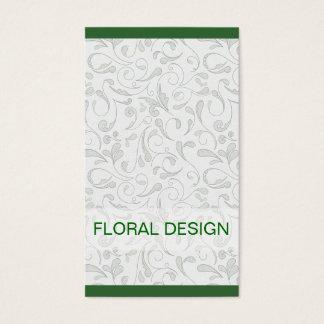 Carte de visite élégant de fleuriste