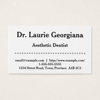 Carte de visite esthétique simple de dentiste