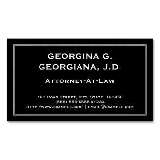 Carte de visite magnétique minimisé d'avocat