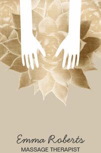 Carte De Visite Mains Curatives Spa Therapie Massage Et