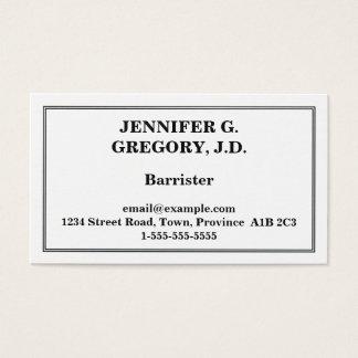 Carte de visite minimal d'avocat