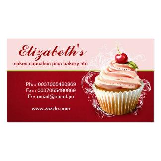 carte de visite moderne de petit gâteau de cerise