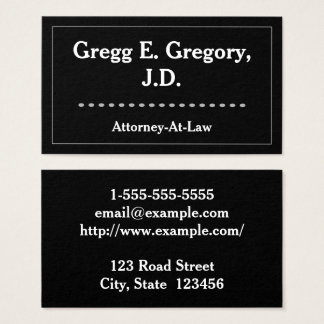 Carte de visite moderne et propre d'avocat