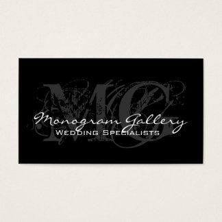 Carte de visite personnalisable de monogramme