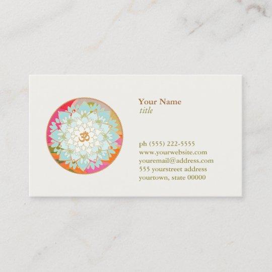 Carte De Visite Professeur Meditation Yoga Symbole DOM