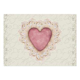 Carte de visite romantique de coeur par SRF