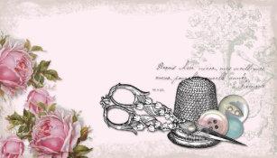 Carte De Visite ROSE Couture Notions
