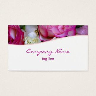 Carte de visite rose de roses