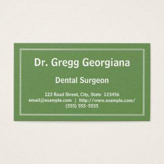 Carte de visite simple de chirurgien-dentiste