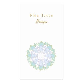 Carte de visite simple élégant de fleur de Lotus