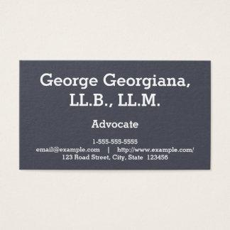 Carte de visite simple et professionnel d'avocat
