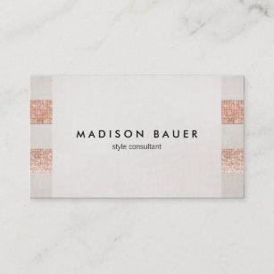 Carte De Visite Styliste Toile Beige Salon Beaut