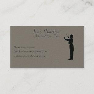 Carte De Visite Tuteur Professionnel Musique