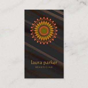Carte De Visite Yoga Curatif Thrapie Logo Fleur Lotus