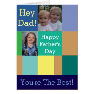 Carte de voeux de fête des pères de collage de