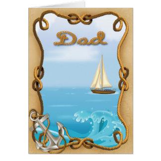 Carte de voeux de fête des pères de voilier