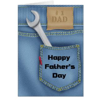 Carte de voeux de fête des pères d'outils