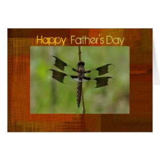 Carte de voeux de libellule de fête des pères