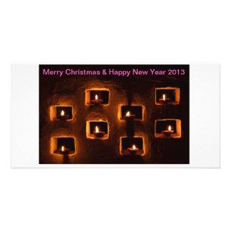 Carte de voeux de Noël et de nouvelle année Photocarte Personnalisée