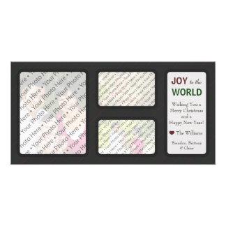 Carte de voeux de vacances de Noël avec les photos Photocarte