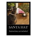 Carte de voeux drôle de Noël de chapeau de Père No