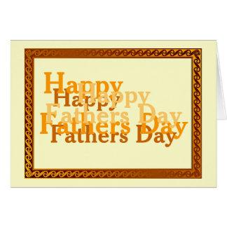 Carte de voeux heureuse de fête des pères