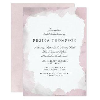 Carte Débonnaire rougissent l'invitation nuptiale rose