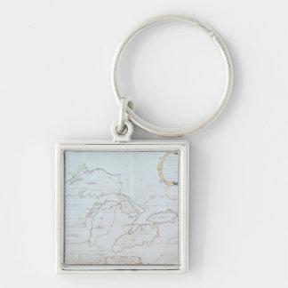 Carte des Great Lakes Porte-clef
