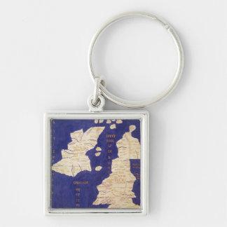 Carte des îles britanniques, de 'Geographia Porte-clef