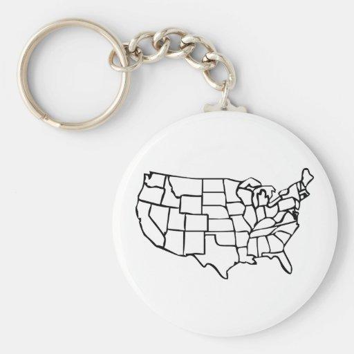 Carte des USA Porte-clefs