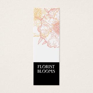 Carte d'étiquettes noire de produit de fleuriste