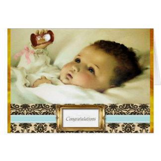 Carte douce de félicitations de bébé
