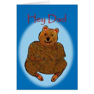 Carte d'ours de fête des pères