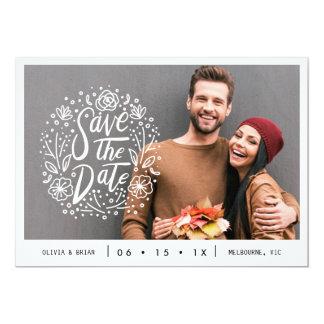 Carte Économies de mariage de photo de Foral de