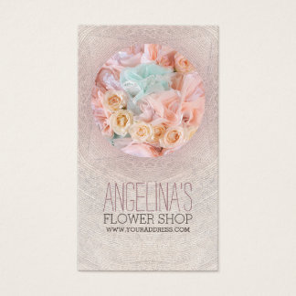 Carte élégante de cercle de fleur de fleuriste