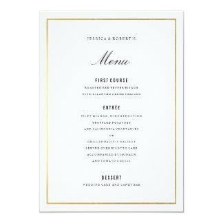 Carte élégante de menu de mariage de frontière