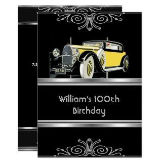 Carte Équipe la 100th voiture de cru de noir de fête