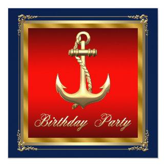 Carte Équipe la fête d'anniversaire nautique
