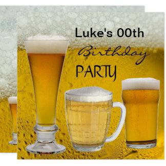 Carte Équipe n'importe quelle bière de boissons de fête