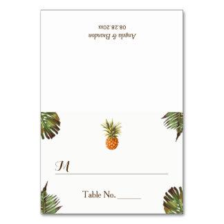 Carte Escorte tropicale d'endroit de mariage d'ananas de