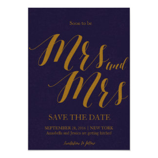 Carte Être bientôt Mme et Mme Lesbian Save la date