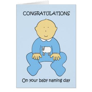 Carte Félicitations de jour de nomination de bébé